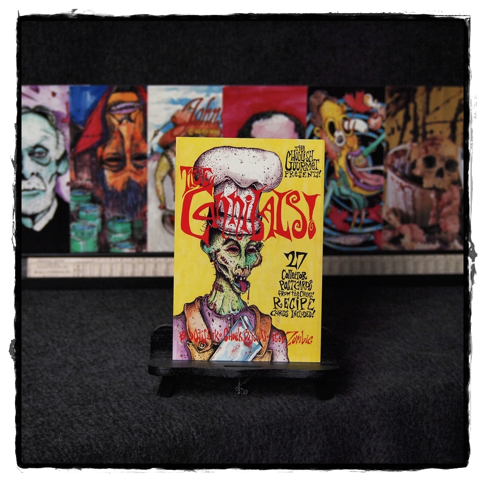 ghoulish gourmet cannibals postcard set