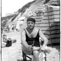 Max and Co Post Beach Postcard Man with Pipe Paolo