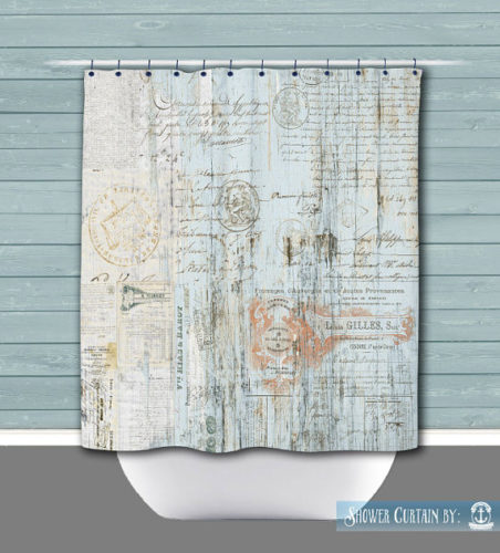 Postcard Shower Curtain