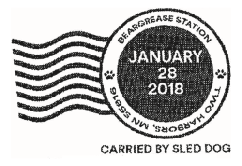 carried by sled dog postmark